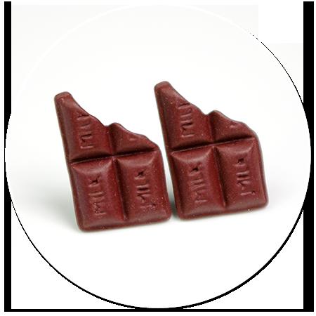 kolczyki wtykane czekoladki