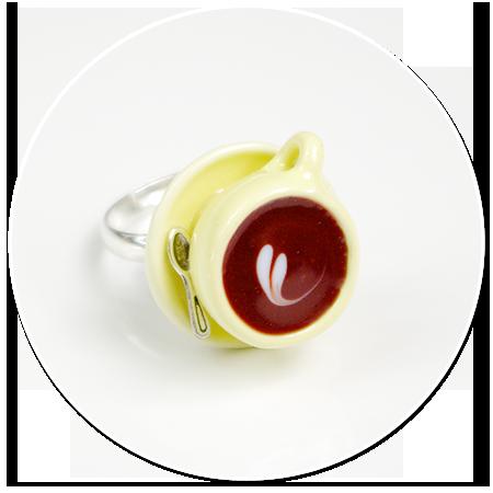 pierścionek z waniliową filiżanką