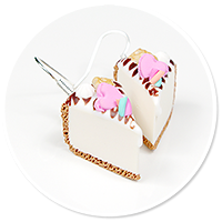 kolczyki sernik z słodyczami nr 4