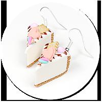 kolczyki sernik z słodyczami nr 5