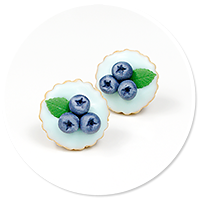 plug-in earrings tart with blueberries no. 3