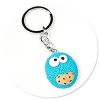 keyring with cookie monster no. 2