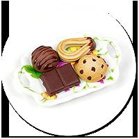 magnes talerzyk ze słodyczami nr 6