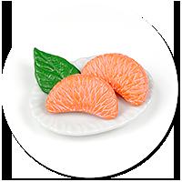 magnes talerzyk z mandarynkami