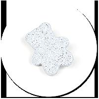 brooch teddy bear from stone