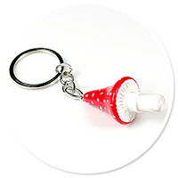 keyring with toadstool no. 3