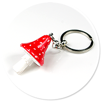 keyring with toadstool no. 4