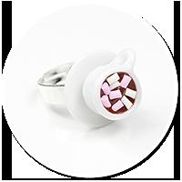 pierścionek gorąca czekolada z piankami