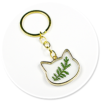 keyring with plant no. 5