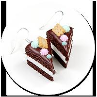 kolczyki torty czekoladowe nr 6