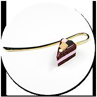 zakładka z tortem czekoladowym nr 2