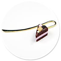 bookmark with chocolate cake no. 2