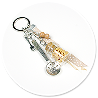 keyring with pasta
