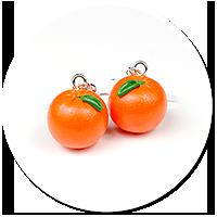 kolczyki pomarańcze