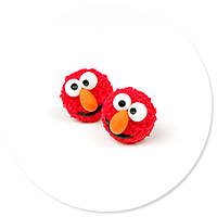 kolczyki wtykane Elmo nr 2