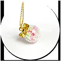 naszyjnik kula kotek z cukierkami