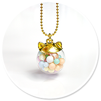 necklace kitty ball with candies no. 2