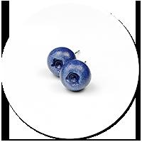 kolczyki wtykane jagody (mini)