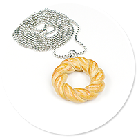 necklace with bagel