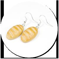 earrings with bread