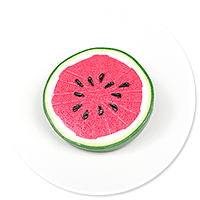 brooch with watermelon