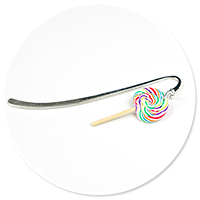 bookmark with lollipop