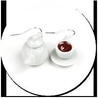 kolczyki filiżanka z kawą i dzbanek nr 2