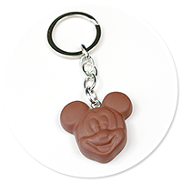 keyring chocolate with mouse no. 3