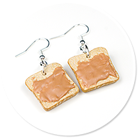 earrings toast with peanut butter