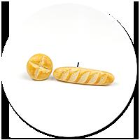 plug-in earrings with bread
