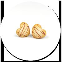 kolczyki wtykane ciasteczka serduszka nr 2