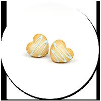 kolczyki wtykane ciasteczka serduszka nr 3