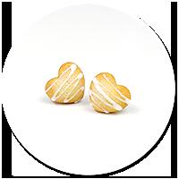 kolczyki wtykane ciasteczka serduszka nr 4