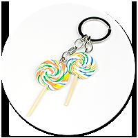 keyring with lollipops