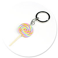 keyring with lollipop no. 5