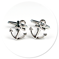 cufflinks for sailor (anchor)