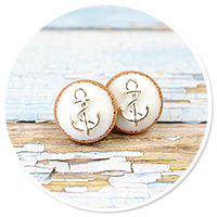plug-in earrings little cookies with anchor no. 3