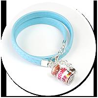 niebieska bransoletka z kremem czekoladowym