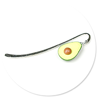 bookmark with avocado