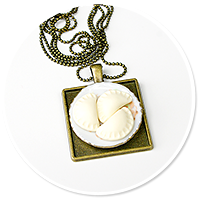 necklace with dumplings