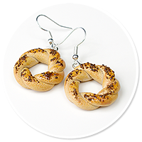 earrings with bagels