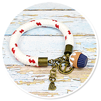 marynarska bransoletka z babeczką nr 5