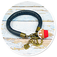 sailor's bracelet with cupcake no. 2