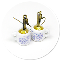 kolczyki kubki z herbatą nr 2
