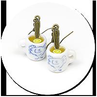kolczyki kubki z herbatą nr 3