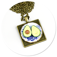 necklace with avocado