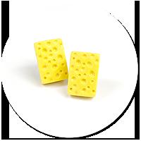 earrings cheese (plug-in)