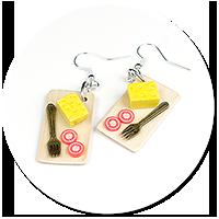 earrings cheese board