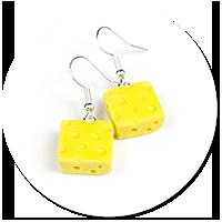 earrings cheese
