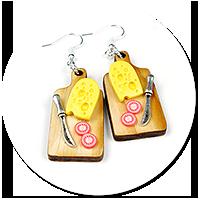 earrings cheese board no. 3